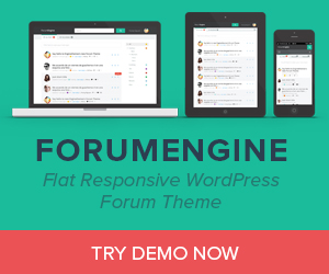 ForumEngine - Flat Responsive WordPress Forum Theme